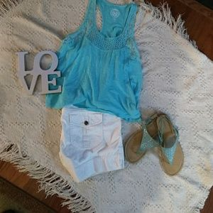 SO Tops - 2 Lacey Tank tops M & L