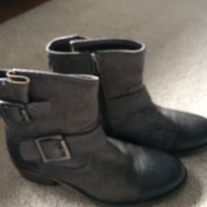 Seychelles Shoes - Seychelles Gray leather bikeinspired boots 7 new