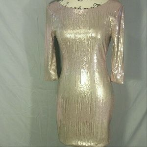 As U Wish Dresses & Skirts - Special! As U Wish Pink Champagne Sequin Dress