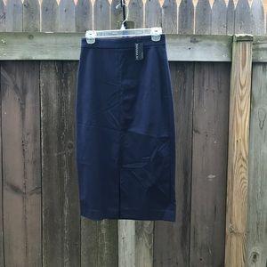 2 navy Sloan Banana Republic pencil skirt
