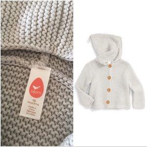 Stem Baby Other - Stem organics, 18mos, cotton hood cardigan
