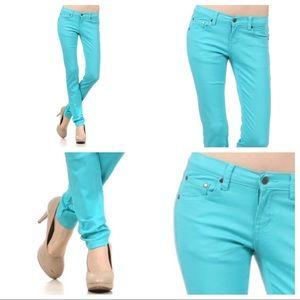 Denim - 5-Pocket Sky Blue Skinny Jeans