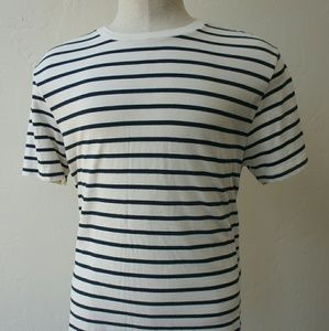 J. Crew Other - J. Crew slim fit off white navy striped shirt L