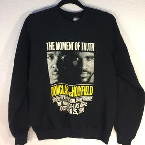 Vintage Other - Vintage 90s Douglas Vs Holyfield Crewneck Sweater