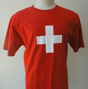 Other - Swiss t shirt red men's