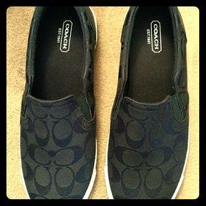 Coach Shoes - Coach canvas slip on shoes