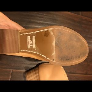 TOMS Shoes - Toms nude leather ankle boot booties zip up