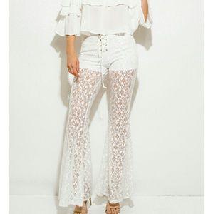 Pants - Bobo lacey  flared pants