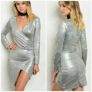 Dresses & Skirts - Metallic silver dress