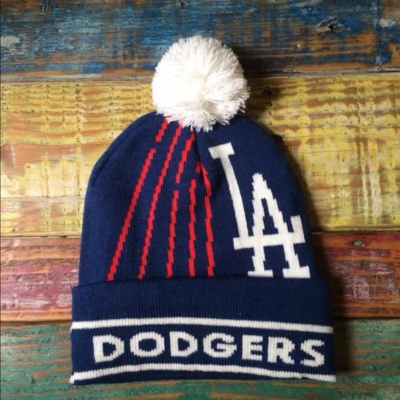 408f86000d27f Accessories - LA Dodgers Pom Pom Beanie