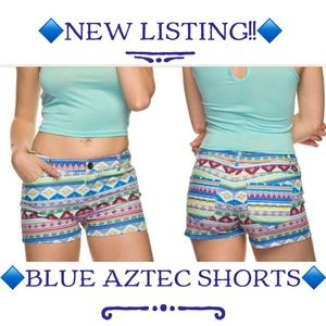 Twilight Gypsy Collective Pants - 🔷BLUE AZTEC SHORTS🔷