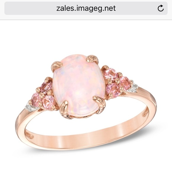 35 Off Zales Jewelry Pink Opal Ring From Lexi S Closet