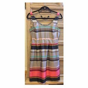 Banana Republic | striped silk sleeveless dress