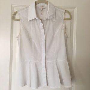 Laundry by Shelli Segal Tops - Laundry by Shelli Segal White peplum blouse. Sz 4