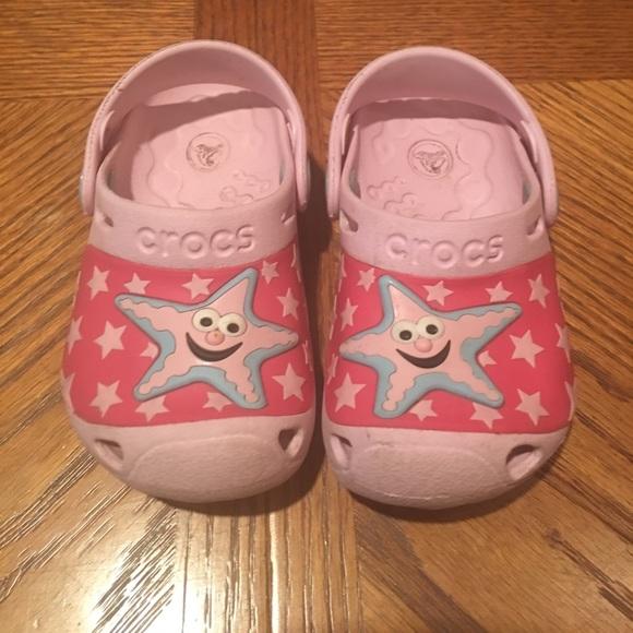 f6449eda2e9f60 CROCS Other - SALE! Toddler girls starfish crocs size 6 7