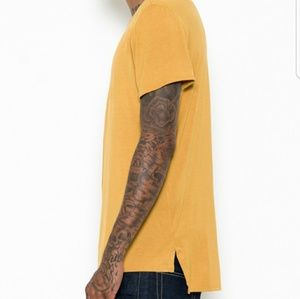 Other - Extended tee shirt mustard yellow