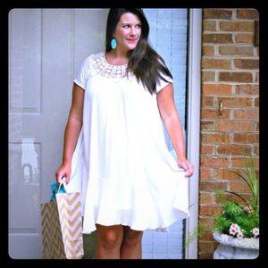 Altar'd State White Flowy Dress