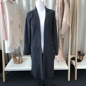 Aritzia Sweaters - Charcoal Wool Open Cardigan