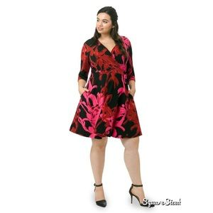 Taylor Dresses Dresses & Skirts - Taylor Wrap Dress in Cherry Crimson 22w