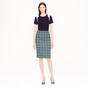 J.Crew No. 2 Pencil Skirt in Lattice Medallion