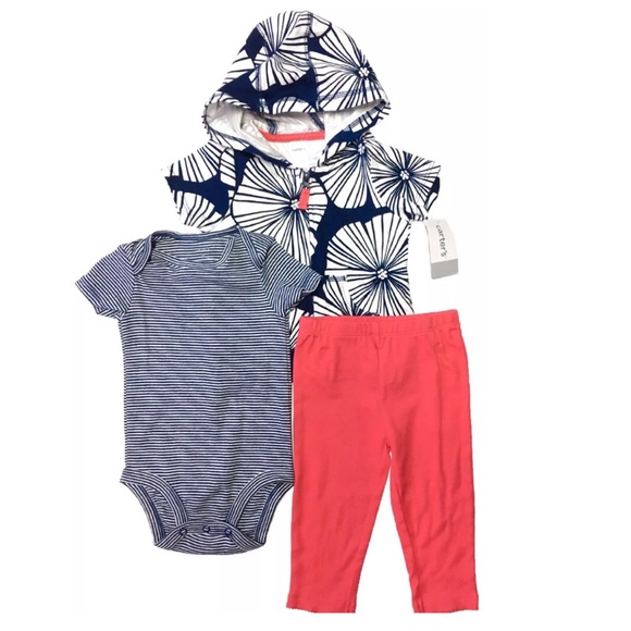 a4d5df39a Carter's Matching Sets | New Carters Girls 3 Pc Tropical Outfit Set ...