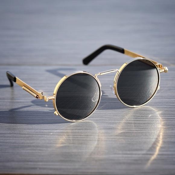 Men s Round Gold Frame Glasses : 54% off Ts Verniel Other - Mens Round Gold Frame Dark ...
