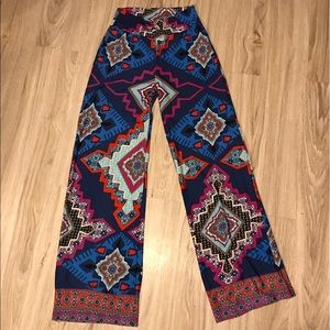 Red Camel Pants - CUTE Red Camel palazzo pants tribal Small