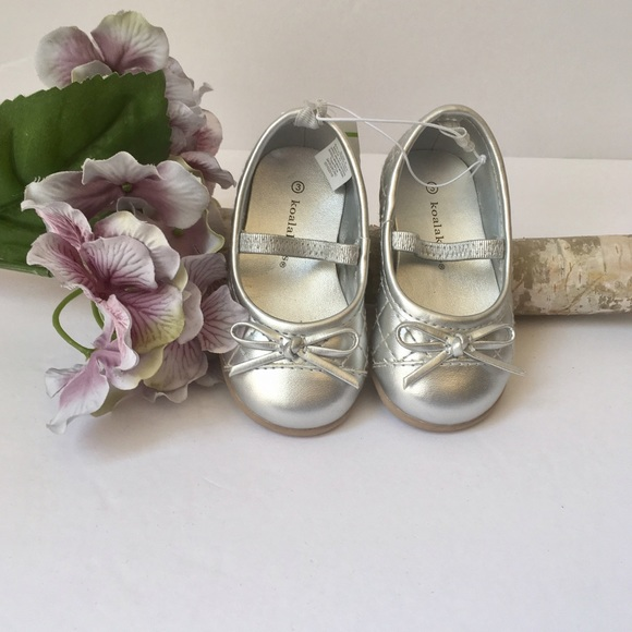 Koala Kids Other - 🅗🅞🅢🅣 🅟🅘🅒🅚 X2!! NWT Baby Girls Silver Shoes