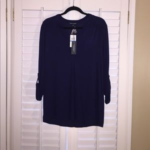 Cable & Gauge Tops - NWT 🎉Cable & Gauge Navy top size XL🎉