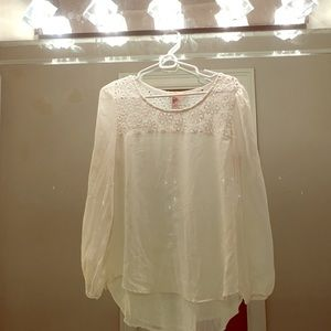 Francesca's Collections Tops - Light White Floral Top
