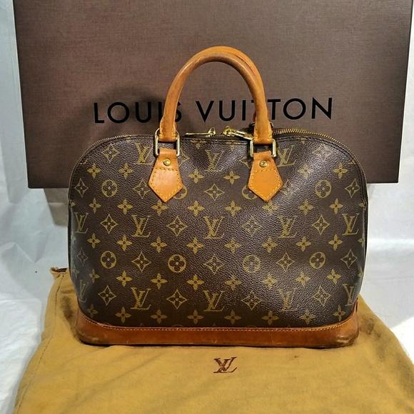 Louis Vuitton Handbags - VTG 1995 Louis Vuitton Alma PM Monogram Tote Bag 974ec89cf3993
