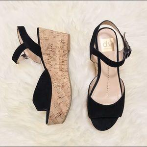 DV by Dolce Vita Shoes - DV by Dolce Vita Black Suede Sandal Flatform