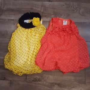 Baby Essentials Other - Set of 2 girls bubble dresses