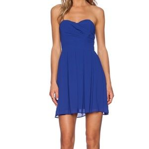 *NWOT* TFNC London blue strapless dress