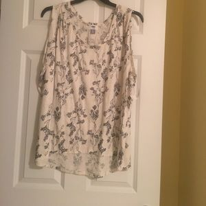 Old Navy Tops - Cream floral tank
