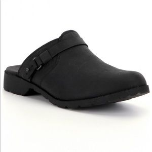 Teva Authentic Delavina Mule Black Leather Clog 6