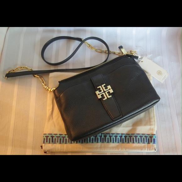 71e5ba4a949 NWT Tory Burch MEYER CHAIN Leather Crossbody Bag