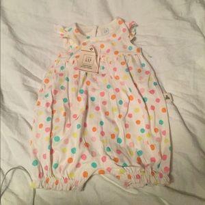 Baby gap girls organic cotton one piece brand new