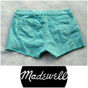 Madewell Pants - Madewell turquoise teal shorts