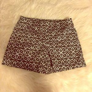 White House black market printed shorts