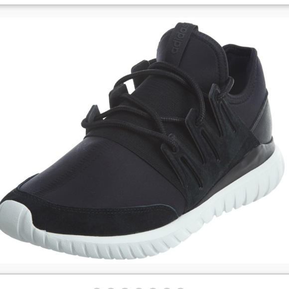 low price buy best factory authentic Adidas Tubular Radial Mens Sneakers In Black/White NWT