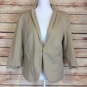 Tan Blazer Jacket 3/4 Sleeves Old Naxy XXL