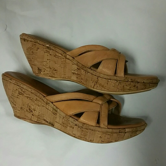 Born Cork Wedge Sandal 28 Images Born Schirra Slingback Cork Wedge Sandals In Brown Lyst