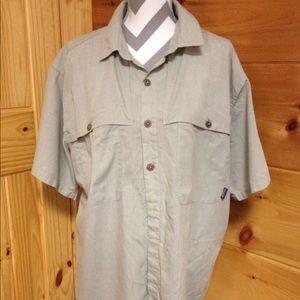 Patagonia short sleeve button down shirt large