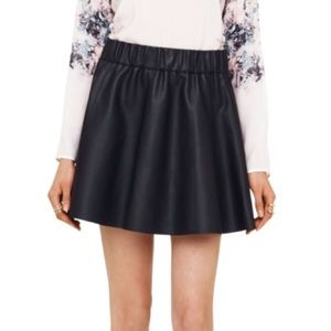 Club Monaco Lyn Faux leather skirt