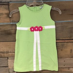 Hartstrings Other - Hartstrings green and white dress w/flowers size 4