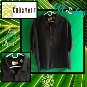 Cubavera Other - CUBAVERA Casual Black Linen Button Up Sz 2X