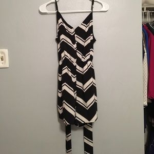 oasap Other - Black and white patterned romper