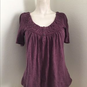 Anthropologie Tops - Anthropologie Purple Top