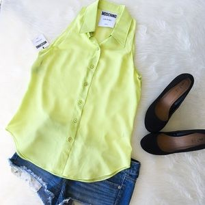 Moschino Tops - Moschino Couture! Lime Green Button Down